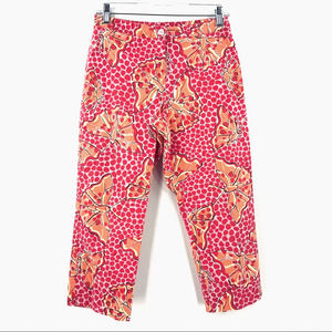 Lilly Pulitzer Crop Pants Cha Cha Butterfly